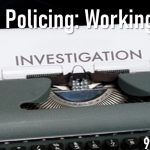 """""""Careers in Policing - Working in CID"""" written in white against an oldfashined typewriter with the word 'investiation' typed onto a white sheet of paper"""
